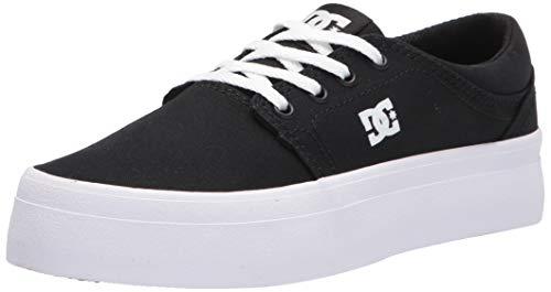 DC Women's Trase Platform Skate Shoe, Black/White, 5