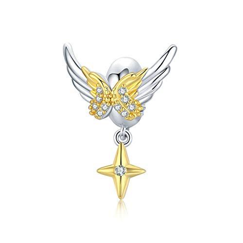 Angel Spacer Charm 925 Sterling Silver Stopper Charm Clip Charm for Pandora Charm Bracelet (H)
