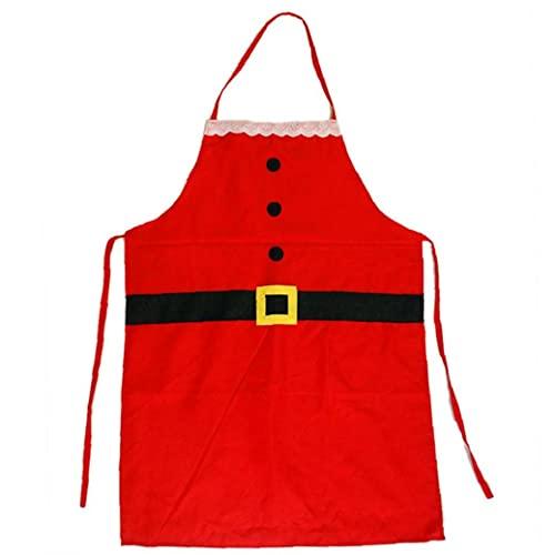 Onsinic Santa Delantal Navidad Disfraz Fiesta Vacaciones Suministros Fiesta Cena Cocina Delantales para Cocinar Paking (nio)