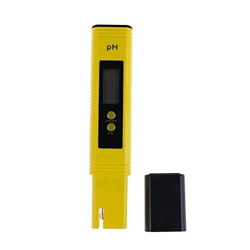 Yangmeijuan Conveniente LCD Digital Pen PH Metro de probador Precisión 0,01 Piscina del Acuario de Agua Vino de orina de calibración automática Durable (Color : Yellow)