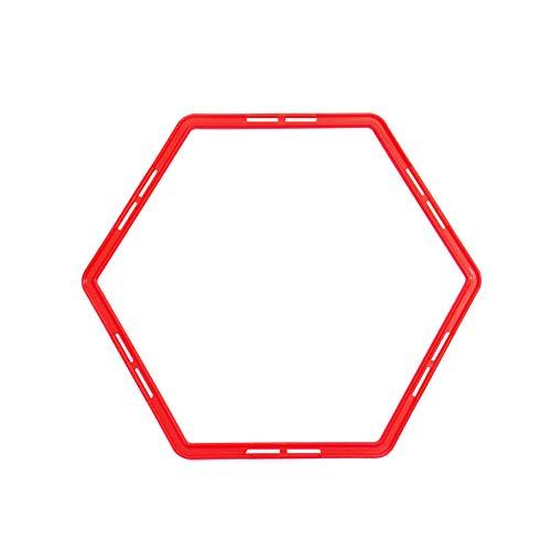 Fußball-Training Ringe Sechseck geformte Beweglichkeit Übung Ringe Physical Training Ring Football Trainer Speed ??Training Ringe mit Karten Buckle 1pc Red