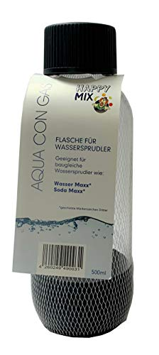 Happy Mix Ersatzflasche PET 0,5l Bajonettverschluss passend für z.B. Wasser Maxx* oder Soda Maxx*, grau