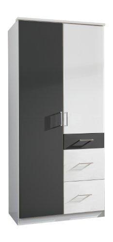 Wimex Kleiderschrank/ Drehtürenschrank Click, 2 Türen, 2 große, 1 kleine Schublade, (B/H/T) 90 x...