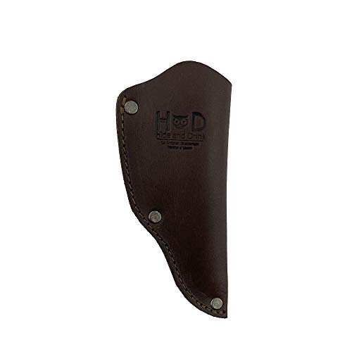 Hide & Drink, Thick Leather Mora Knife Sheath w/Snap and Loop, for (2-3 inches) Long Blades, Handmade Includes 101 Year Warranty :: Bourbon Brown