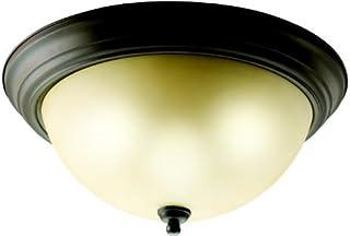 Kichler 8110OZ, Ceiling Glass Flush Mount Ceiling Lighting, 3 Light, 180 Watts, Olde Bronze