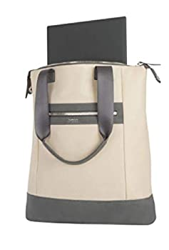 Targus+Newport+3+North%2fSouth+Nylon+Tote+with+15%22+Laptop+Pocket%2c+11-15%2f16% e2%80%9dH+x+19% e2%80%9dW+x+1-13%2f16% e2%80%9dD%2c+Tan