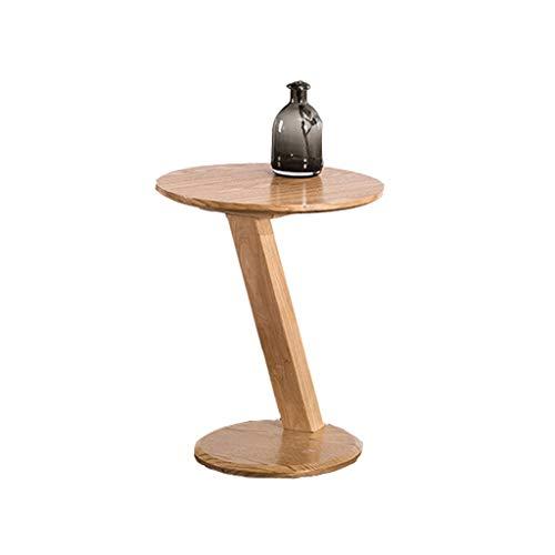 Petite Table Basse Simple Petite Table Ronde en Bois Massif Salon Mini-côté Table d'appoint Double Table de personnalité (Couleur : A)