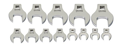 Williams 10740 3/8 Drive Crowfoot Wrench Set, 3/8-Inch to 1-1/8-Inch, 13-Piece