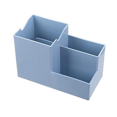 Oinna cuarto de baño, organizador de cosméticos, multifuncional, caja de almacenamiento para escritorio, color azul
