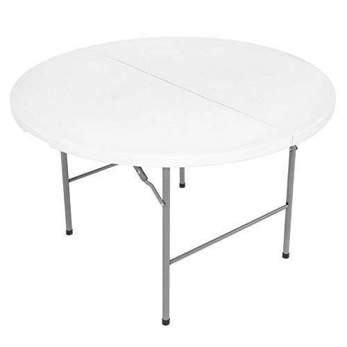 Oypla 4ft 1.2m Round Folding Heavy Duty Outdoor Trestle Party Garden Table
