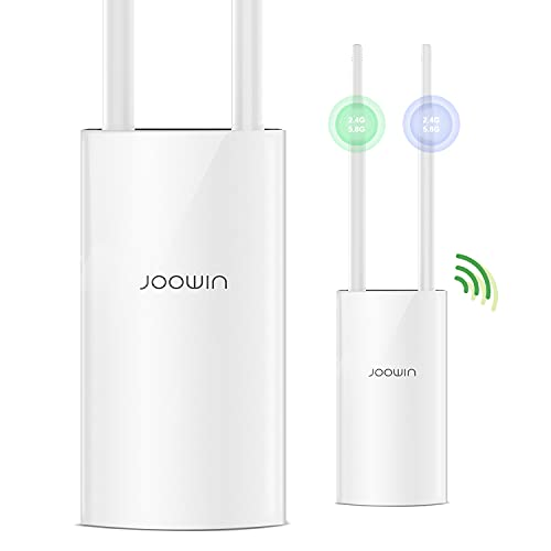 Outdoor Wireless Access Point AC1200 | PoE Powered | Ethernet Port | Dual Band 867Mbps 5Ghz 300Mbps 2.4GHz | Outdoor WiFi Range Extender Repeater/Router/Bridge Mode | WiFi Access Point High Power AP