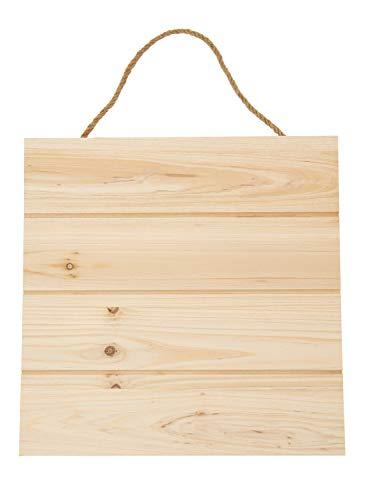 VBS Deko-Holzplatte zum Aufhängen 29x29cm Wand Basteln DIY Bild Kiefernholz Juteschnur