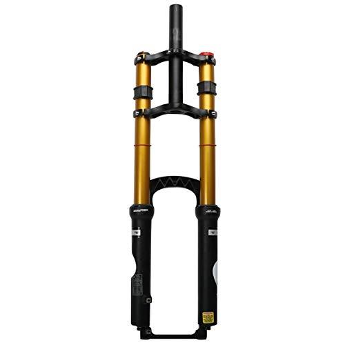 Zatnec Amortiguadora Golpes Hombro MTB Frente Tenedor Tubo Recto 26 Pulgadas Stroke 180mm Amortiguación Conejo La Tortuga Amortiguador Gas Tenedor (Size : 27.5inch)
