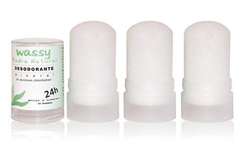 3 Piedras de alumbre de 120 grs Desodorante Natural