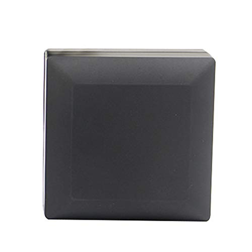 Goodluvk28 Aufbewahrungsbox für Schmuck, transparent, für Schmuck, hängende Ringe, Armreifen, ideal für Schmuck, Plastik, weiß, Round Base#