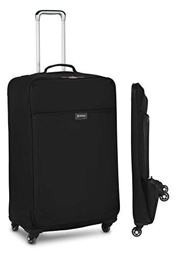 Biaggi Leggero Foldable Spinner Suitcase - 29-Inch Luggage - As Seen on Shark Tank - Black