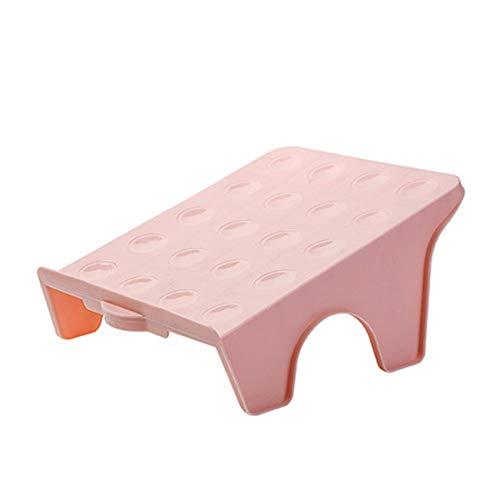 XKMY Estante de almacenamiento de zapatos para el hogar Zapatero doble soporte de plástico integrado simple económico simple zapatero de almacenamiento de zapatos (color: rosa grande)