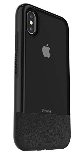 Otterbox Pack Slim Bundle Coque Renforcée Fine + Protecteur d'écran en Verre Trempé Performance Glass. pour iPhone X/Xs Noir Arrière Transparent