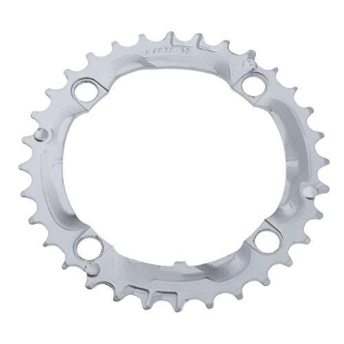 MagiDeal de Bicicleta Ligero 32T 104 BCD 7 8 Rueda de Anillo de Cadena de 9 Velocidades - Plata, 104mm