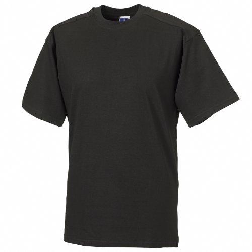 Russell Europe Herren T-Shirt/Arbeits-T-Shirt (L) (Schwarz)