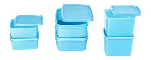 [Apply coupon] Signoraware Smart Plastic Fridge Container Set, 6-Pieces, Blue