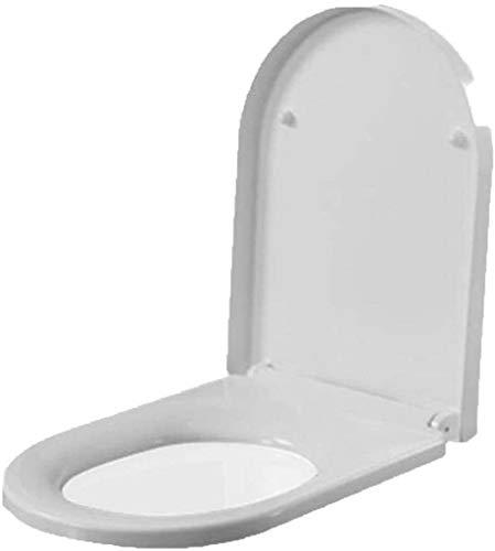ZHPBHD Toilet Seat Ferro di Cavallo igienici coperchi con urea-formaldeide Resina Buffer Pad Quick Release Ultra Resistant Top Montato igienici Copertura for Bagno, Bianco-46 * 36CM