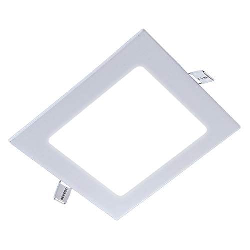"ZEEZ Lighting - 20W 9"" (OD 9.25"" / ID 8.40"") Square Warm White Dimmable LED Recessed Ceiling Panel Down Light Bulb Slim Lamp Fixture - 1 Pack"