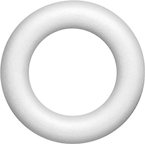 1 GHIRLANDA 25 CM IN POLISTIROLO DA DECORARE NATALE X PATCHWORK DECOUPAGE anello
