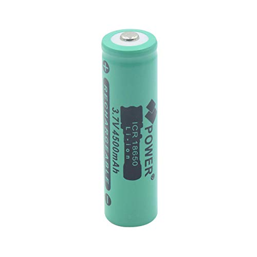 TTCPUYSA Batería De Iones De Litio De Litio Superior con Botón ICR 18650 De 3.7v 4500mah, BateríAs De Repuesto para Linterna Recargable 1pieces