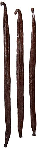 Indonesian Vanilla Beans - Gourmet Grade A Pods for Homemade Vanilla Extract and Baking - 6' or longer (3 Beans)