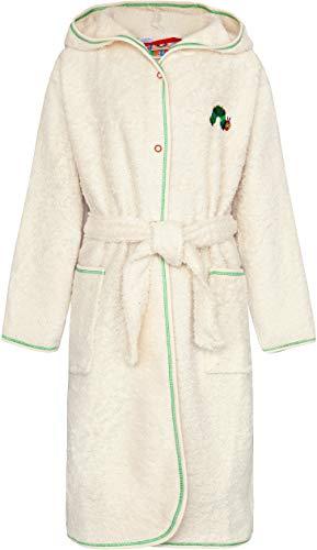 Smithy® Kinder-Bademantel aus 100% Bio-Baumwolle – Schadstofffrei und GOTS zertifizierter Baby Morgenmantel – mit Original Raupe Nimmersatt