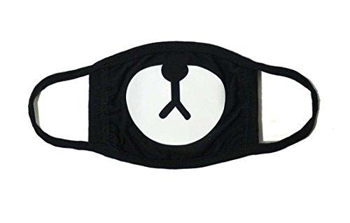 Sassy Pippi Unisex Süße Mundschutz Maske Emojimaske Kälteschutz Gesichtsmaske (Bär A)