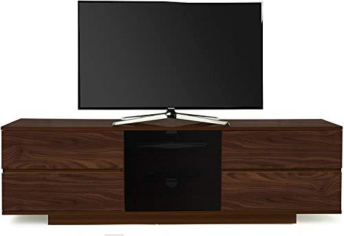 Homeology AVITUS ULTRA Remote Friendly Beam-Thru Premium Walnut with 2-Walnut Drawers 32'-65' Flat Screen TV Cabinet - LIMITED EDITION