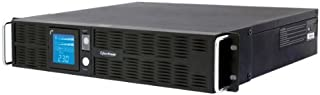 CyberPower PR1000ELCDRT2U 1000VA/900W Pure Sine Wave UPS (Rackmount and Stand-up positions, rotatable LCD, 2U)