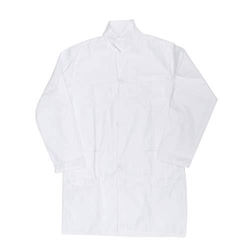 Toyvian - Disfraz de Doctor para nios, para cientfico, para Jugar al Disfraz, para nios, disfrazarse, Ropa, Recuerdos de Fiesta, algodn, Blanco, Small