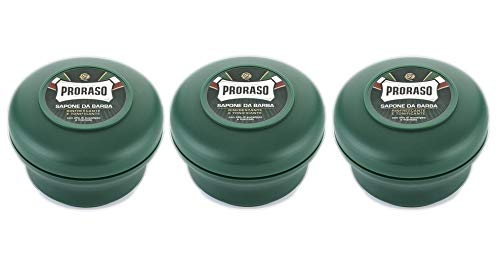 3 jabones de afeitar Proraso de 150 ml con aceite de eucalipto...