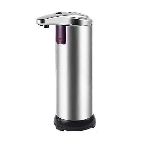 LIVEHITOP Automatico Dispenser di Sapone, Acciaio Inox Regolabile Liquido Dispenser Sapone Touchless con Sensore di Infrarossi e Base Impermeabile, per Cucina Bagno