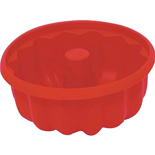 Forma de Bolo de Silicone Redonda Vermelho