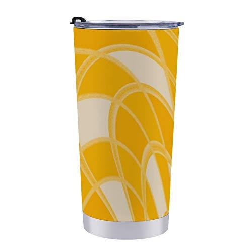Taza abstracta de mango flaco con diseño de seta de 20 onzas de acero inoxidable reutilizable con aislamiento al vacío para coche, viajes, hogar u oficina
