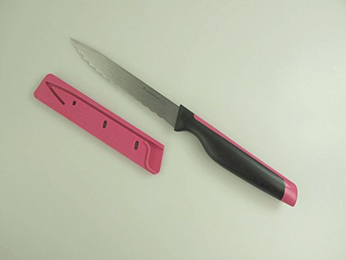 TUPPERWARE Messer Universal-Serie pink Universalmesser mit Wellenschliff D194 15247