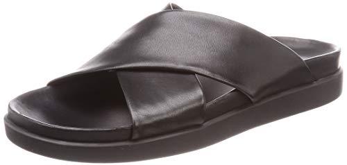 Clarks Sunder Cross, Sandalias Punta Cerrada Hombre, Negro (Black Leather Black Leather), 42 EU