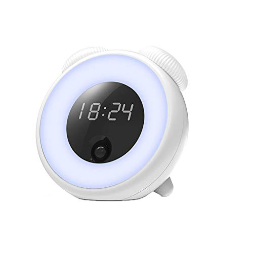 Preisvergleich Produktbild NIUQY Ausverkauf Mode Luxus Zeit Smart LED Kreative Kontrolle Menschlicher Körper Induktion Smart Wecker Tragbarer Multifunktional Dienstprogramm-Gadget