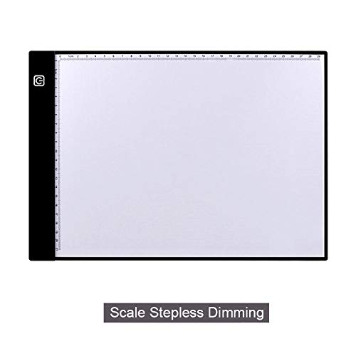 Tableta de dibujo digital A4 Tabletas gráficas Pad de caja de luz LED Rastreo USB electrónico Tablero de copia de arte Tabla de pintura de escritura-Escala continua