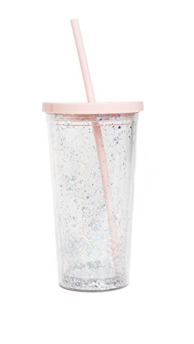 sip tumbler with straws Ban.do Deluxe Glitter Sip Sip Insulated Tumbler with Reusable Straw, 20 Ounce Travel Cup with Lid, Glitter Bomb
