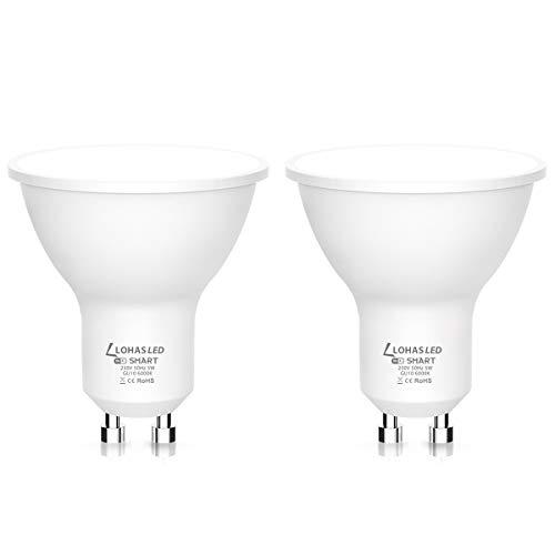 GU10 Bombillas Inteligentes, LOHAS LED Lámpara WiFi Funciona con...