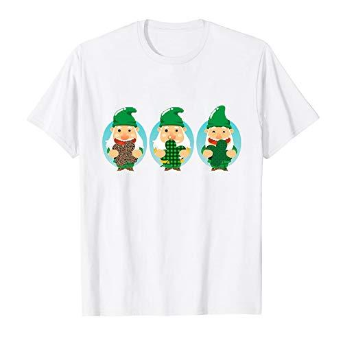 BUKINIE Women Men St Patricks Day T Shirt Printed Cute Leprechaun Tops Soft Comfort Blouses Tee O Neck Loose T-Shirts Unisex White