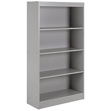 South Shore Axess 4-Shelf Bookcase, Soft Gray