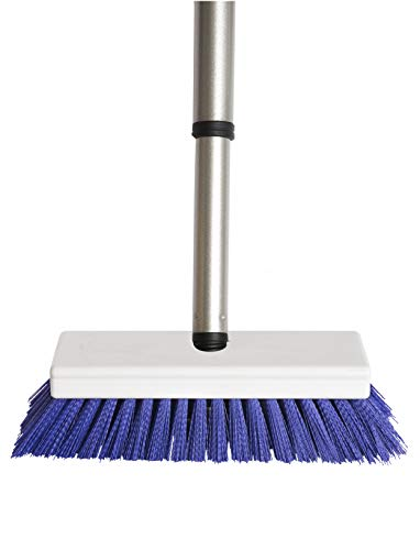 Fuller Brush Tub & Shower E-Z Scrubber Brush - Non Scratch and Detachable Brush Removes Dirt, Grime and Stains Extendable and Sturdy Handle Ideal for Hard-to-Reach Spaces in Bathrooms and Kitchens