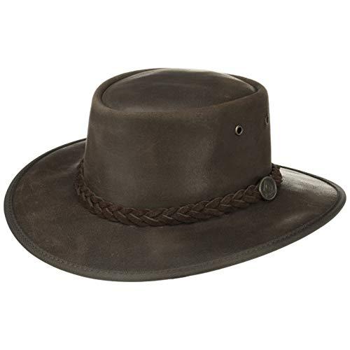 Chapeau Durras en Cuir Scippis chapeau de cowboy chapeau de rodeo (L/58-59 - marron)
