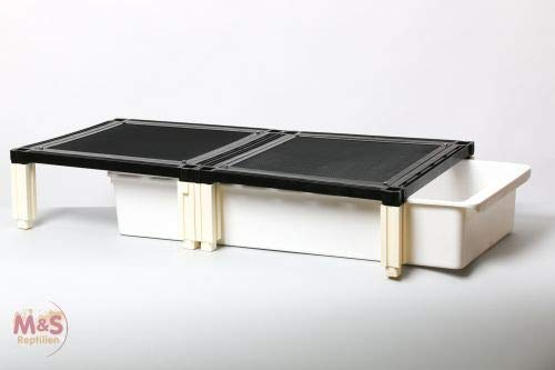 M&S Reptilien M&S Budget Rack Large EXTRA Lage 40 x 80 x 16 cm/Wanne 31 x 71 x12 cm